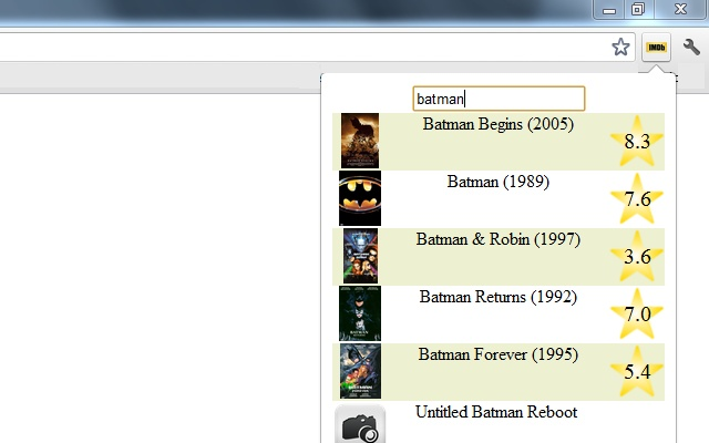 IMDB Movie Search