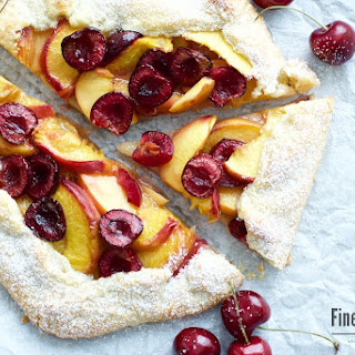 Peach and Cherry Galette.