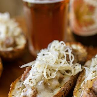 Potatoes Stuffed with Bratwurst Sausage and Sauerkraut Recipe