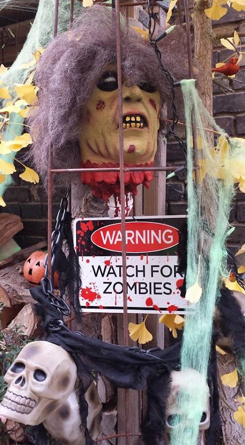 Watch for Zombies by Joe Harris - Public Holidays Halloween ( halloween zombies skulls warning )