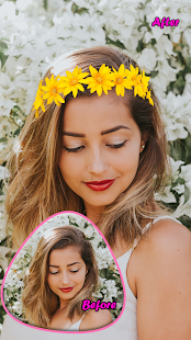 Flower Crown Photo Filter Editor - náhled