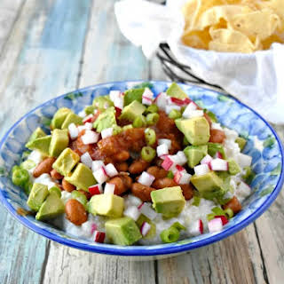 Cottage Cheese and Pinto Bean Salsa.