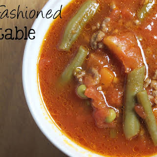 Old Fashioned Vegetable Soup.