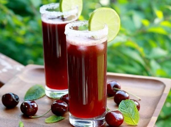 Sweet Virgin Blended Cherry Mojito Recipe