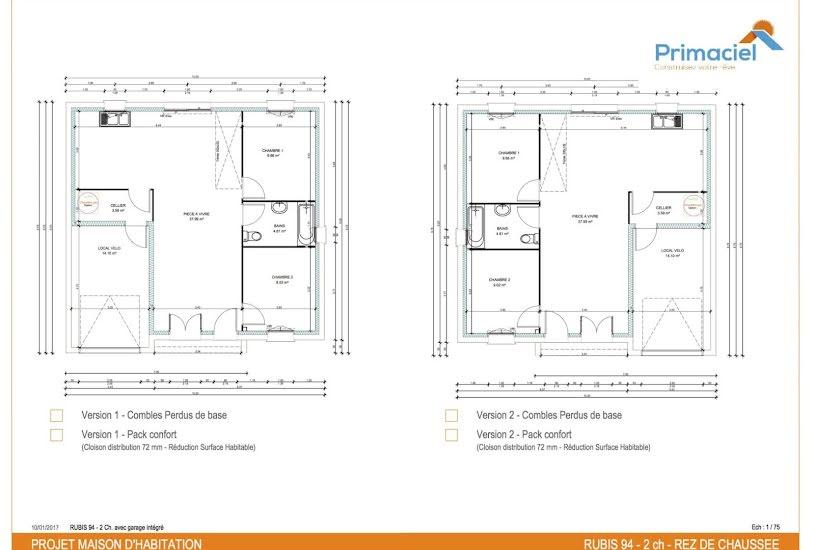 Vente Terrain + Maison - Terrain : 2394m² - Maison : 98m² à Montrichard (41400)