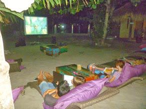 Photo: beach cinema