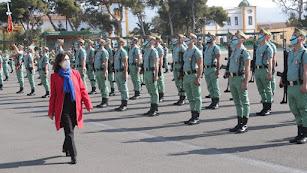 Margarita Robles, ministra de Defensa, en Almería.