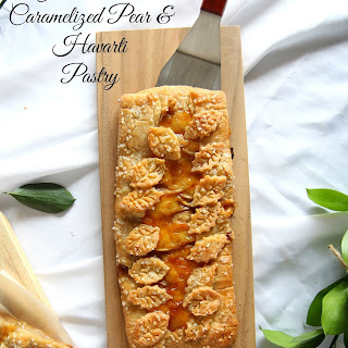 Gluten Free Caramelized Pear and Havarti Pastry