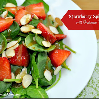 Strawberry Spinach Salad with Balsamic Vinaigrette.