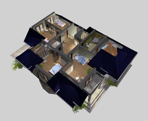 APS 090 - Rzut poddasza 3D