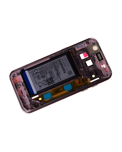 Galaxy A3 2017 Middle Cover with Battery Pink/Gold