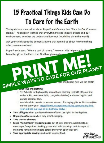 Care For The Earth Printable