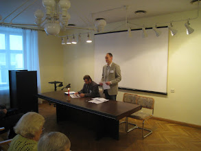 Photo: Koosolekut juhatab Tallinna osakonna uus juhataja Priit Roosipuu