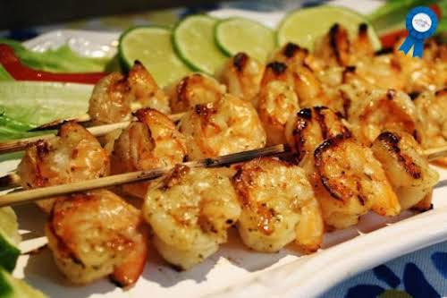 "Honey Mustard Shrimp on the Bar-B ""It took a few tries to..."