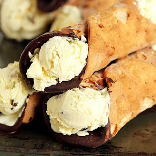 Ricotta Ice Cream Stuffed Cannoli