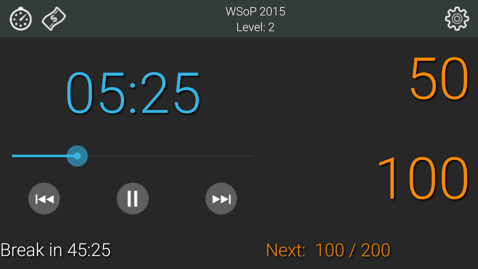 Talking Poker Timer - Clock- screenshot