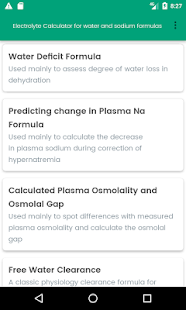 Water and Sodium Formulas - náhled