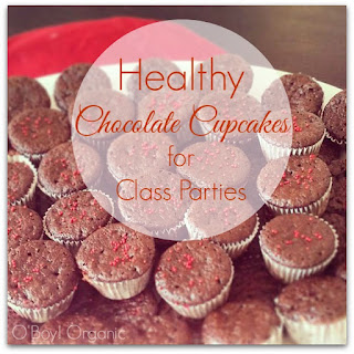 Healthy Chocolate Cupcake for Class Parties.