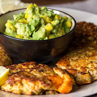 Salmon Sweet Potato Cakes With Avocado Dip