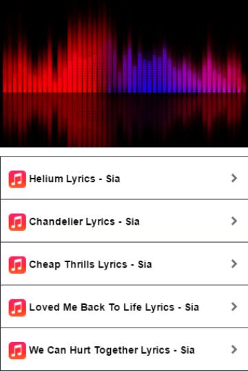 Sia - Helium Lyrics - Android Apps on Google Play