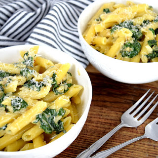 Parmesan and Spinach Penne Pasta