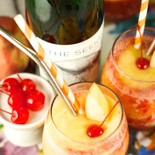 Riesling Peach And Cherry Slushies