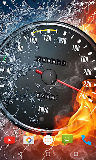 Burning Speedometer Wallpaper