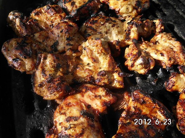 Grill chicken. http://www.justapinch.com/recipes/main-course/chicken/the-ultimate-grilled-chicken.html?p=1
