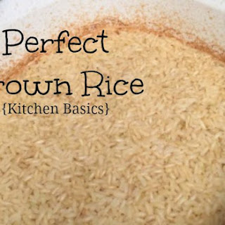 Perfect Brown Rice