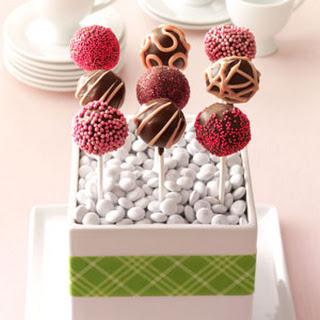 Raspberry Truffle Cake Pops