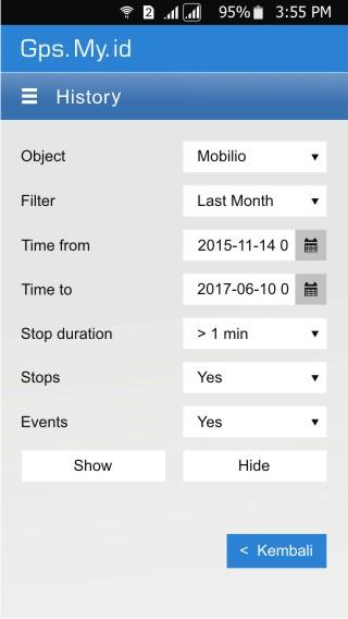 MYID TRACKING- screenshot