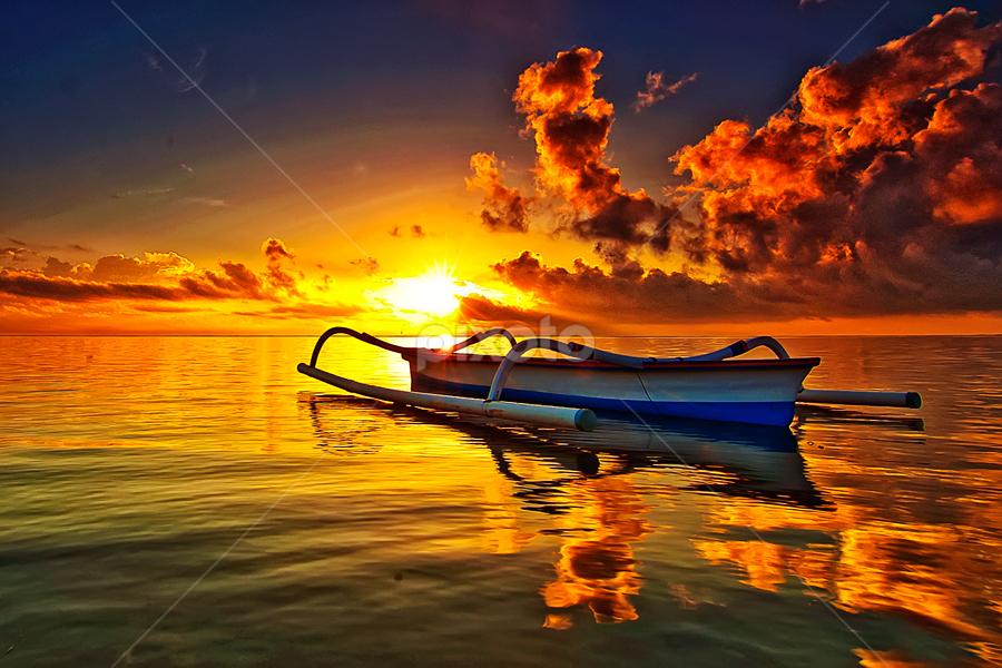 Alone by TEDDY ZUSMA - Landscapes Sunsets & Sunrises ( pwcreflections )