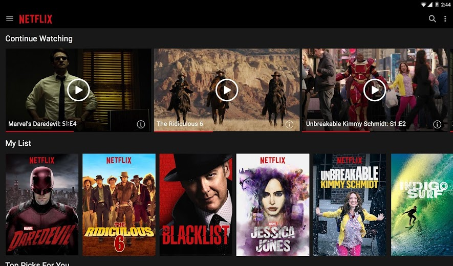 Screenshot 5 for Netflix's Android app'