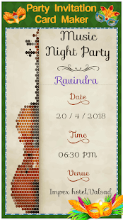 Party invitation card maker apps on google play screenshot image stopboris Gallery