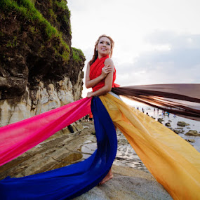 Colorful by Arindra Arindra - People Fashion ( fashion, model, sky, woman, cliff, waterscapes, portrait )