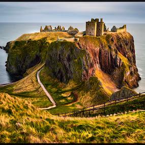 Dunnottar Castle View by Don Alexander Lumsden - Buildings & Architecture Public & Historical
