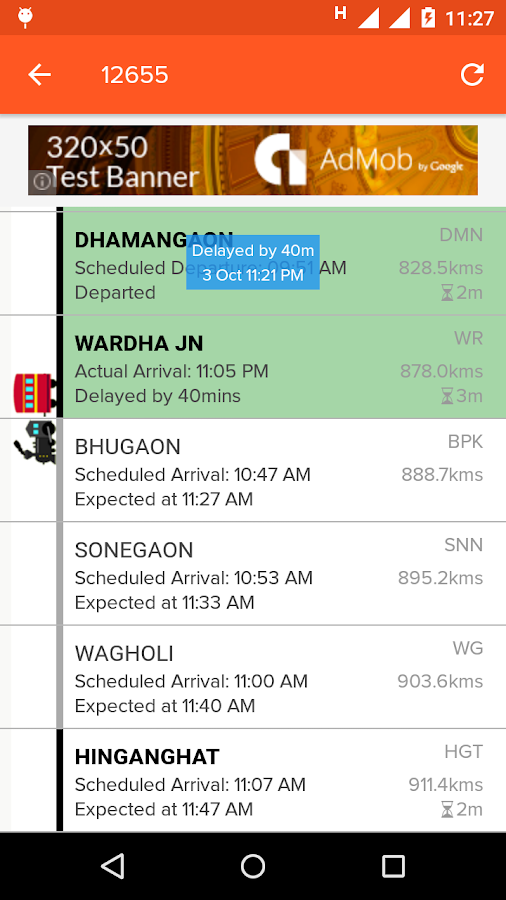 Indian Train Locator- screenshot