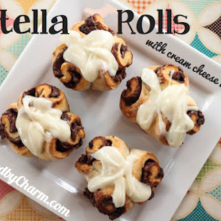 Nutella Rolls with Cream Cheese Icing Recipe