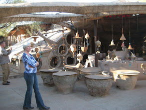 Photo: bells at Cosanti, the precursor to Arcosanti, Paolo Soleri's utopian community.