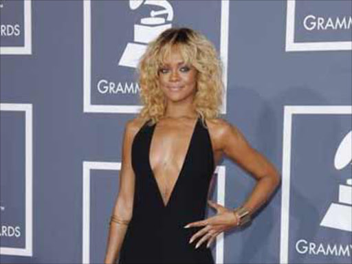 The plunging neckline dress that Rihanna wore to the Grammys in 2012.