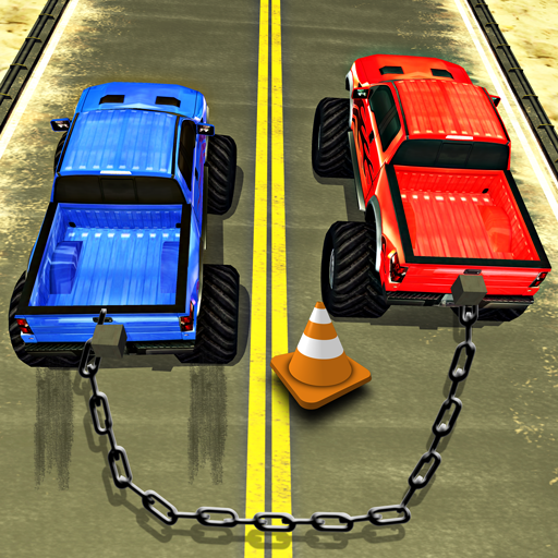 Chained Cars Racing Games Stunt Truck Driver 3D