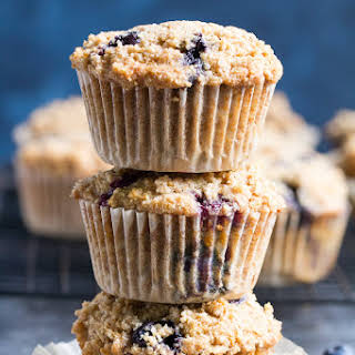 Paleo Blueberry Muffins with Crumb Top {Gluten-Free, Dairy-Free}.