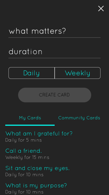 Life Cards: Focus on What Matters- screenshot