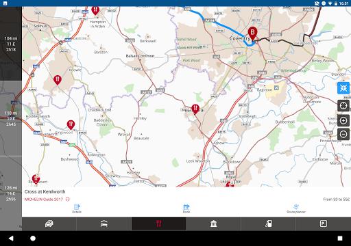 ViaMichelin Route planner,maps screenshot 13