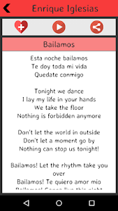 Enrique Iglesias Lyrics screenshot 4