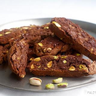 Paleo Chocolate Pistachio Biscotti