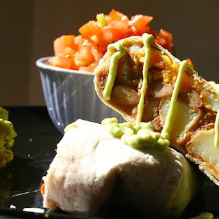 Huevos Rancheros Burrito with Avocado Aioli