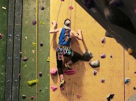 Someone rock climbing