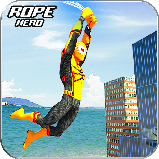 Amazing Spider Rope Man hero: Police Crime city