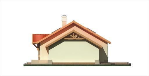 Azalia II wersja D z podwójnym garażem - Elewacja prawa